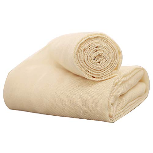 (STARUBY Cheesecloth Grade 50 Unbleached Cotton Fabric Cheesecloth 4 Yards 36 Sq Feet Butter Muslin Reusable Natural Cheesecloth Bags for Nut Milk Bag, Strainer, Filter, Cooking, Cheese Making)