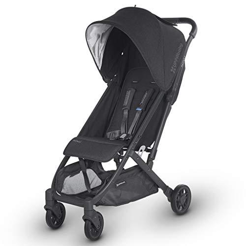 2018 UPPAbaby MINU Stroller – Jake (Black Melange/Carbon/Black Leather)