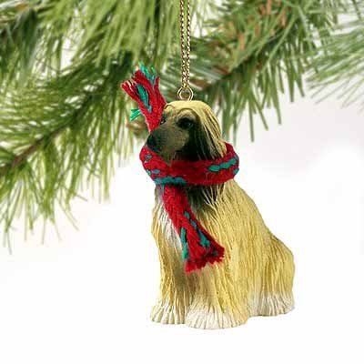 Conversation Concepts Afghan Hound Miniature Dog Ornament - Brown