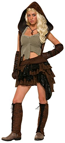 Female Medieval Costumes (Forum Novelties Women's Medieval Fantasy Rogue Female Warrior Costume, Multi, One)
