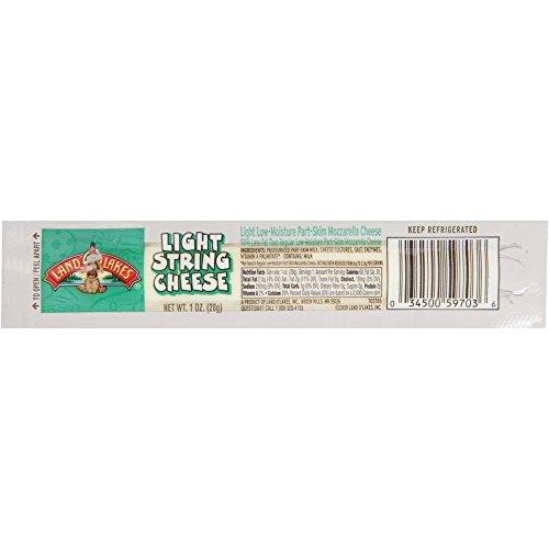 Land O Lakes Light Mozzarella String Cheese Portion, 1 Ounce -- 168 per case.