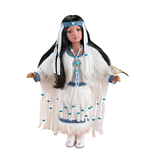 Women's Cholena Native American Collectible Porcelain Doll Antique Collectible Dolls