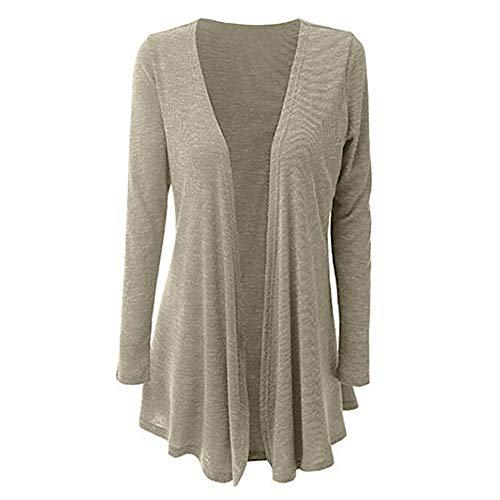 rocicaS Women's Cardigan Long Sleeve Fashion Solid Knit Slim Warm Open Front Coat Outwear Sweater Sweatshirt Cardigans Tops