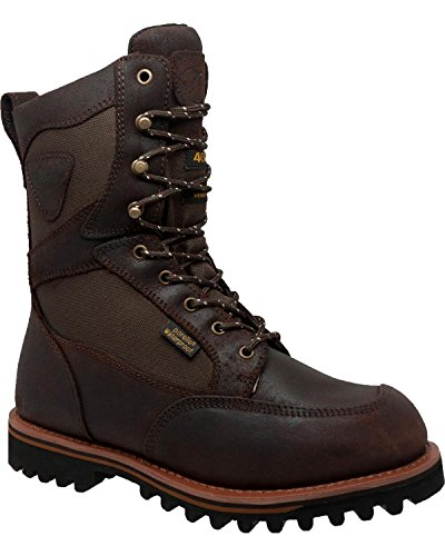 AdTec Mens Dark Brown 11in Cordura Insulated Leather Hiking Boots 13 W