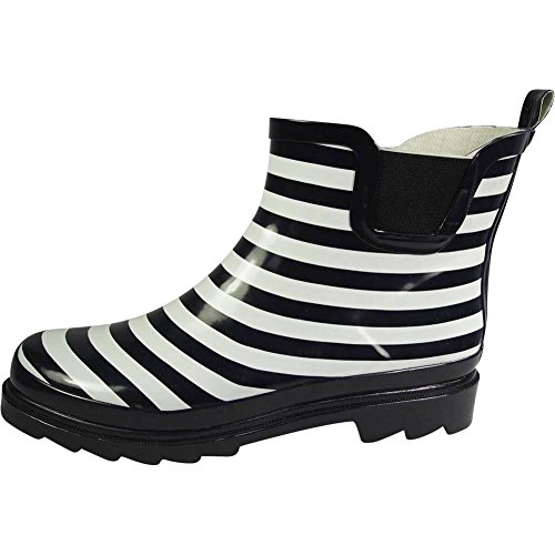Navy Rain Boots Womens Waterproof Boot Winter NORTY White Ankle Ladies Stripe Garden Spring vqRxEEZHw