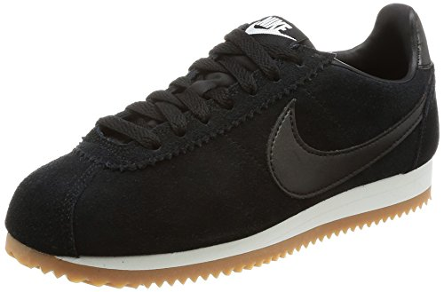 NIKE Wmns Classic Cortez Suede AA3839-001 Black/Summit White Womens Shoes