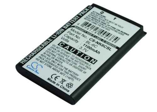 Battery2go - 1 year warranty - 3.7V Battery For Nokia BL-6C, 6255i, Nokia 2865, 2125, 6155, 3155i, 6019i, N-Gage, 6265