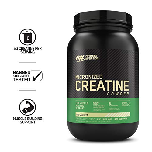 Optimum Nutrition Micronized Creatine Monohydrate Powder, Unflavored, Keto Friendly, 400 Servings, 70.54 Ounce from Optimum Nutrition
