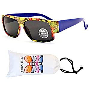 KD3067-VP Style Vault Kids(0-12 months) Flat Top Sunglasses (B2487F #5 Navy Arms, UV400)