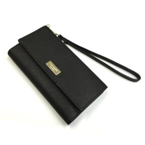 Kate Black Leather (Kate Spade Newbury Lane Iphone 6 Saffiano Leather Wristlet Clutch (Black))