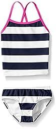 Kanu Surf Little Girls\' Toddler Layla Stripe Tankini Swimsuit, Navy, 3T