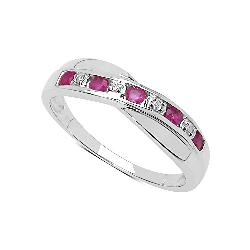 The Ruby Ring Collection: Ruby & Diamond Channel Set Crossover Eternity...