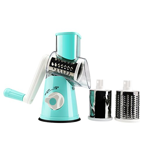 Slicer Rotary Cheese Grater Veggie Slicer Vegetable Carrot Shredder Nut Chopper (Slicer Grater)