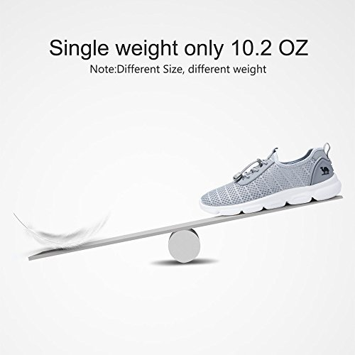 Camel Mens Lightweight Mesh Shoes Breathable Casual Running Shoes for Walking Athletic Outdoor 8.5 us /260 Grey