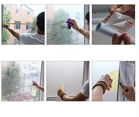 ウィンドウ ステッカーをつや消し,プライバシー フィルム,DIY のウィンドウ フィルム,印刷 マット 接着剤フリー 反射 静的 会議室 住宅-B 90x120cm(35x47inch)