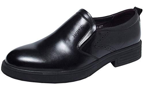 Fuweiencore color Negro 39eu Hombre De Y Tamaño Cómodas Negro Negocios Zapatillas qBRqa
