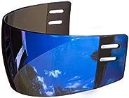 Ronin R3B Mirrored (Blue) Straight-Cut Hockey Visor