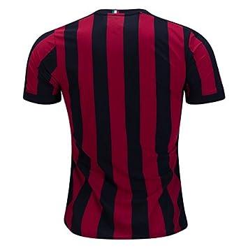 AC Milan Home 17/18 Fútbol Jersey camiseta de color negro/rojo ...