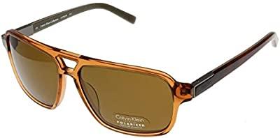 Calvin Klein Sunglasses Men Whisky Polarized Aviator CK7857SP 210B