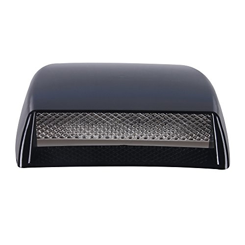 Aumo-mate New Universal Car Air Flow Intake Scoop Turbo Bonnet SUV Vent Cover (Black) Scoop Car