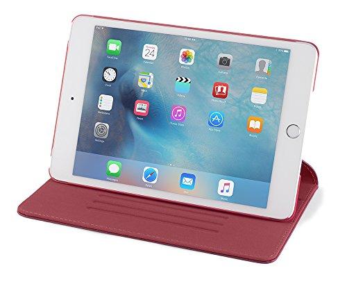 Devicewear Ridge, Slim, Auto Sleep/Wake with Six Position Flip Stand for Apple iPad Mini 4(RDG-IPM4-RED)
