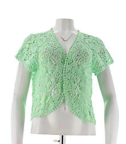 Liz Claiborne NY Open Front Lace Shrug Pistachio XS/S New A253999 ()