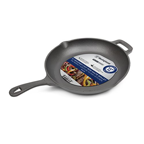 Westinghouse WFL10 Select Series Seasoned Cast Iron 10 Inch Saute Skillet Series Roasting Pan