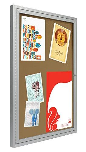 displays2go 2x3 foot cork enclosed bulletin board 24quot x