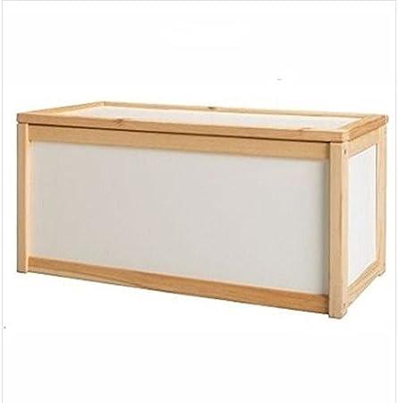 Unidad de almacenamiento de madera caja de juguetes para niños pecho banco de cajas/ropa de