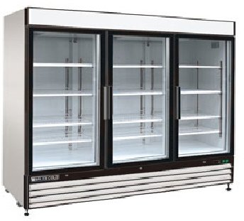 Maxximum 72 Cft Triple Glass Door Merchandiser Freezer MXM3-72F