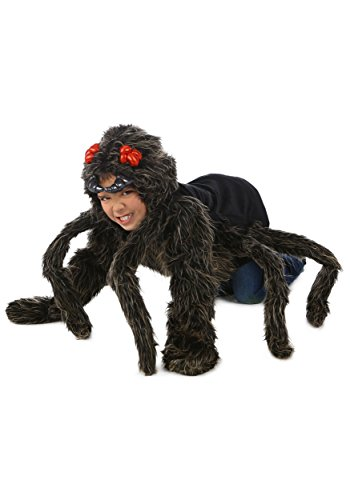 [Princess Paradise Baby's Child Tarantula Hoodie, Black, Large/X-Large] (Baby Girl Spider Halloween Costume)