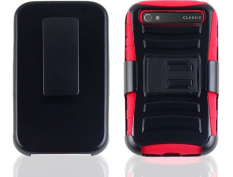 blackberry classic case red - 3