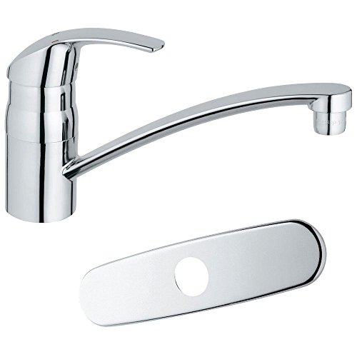 Grohe Pot Filler Faucets (Grohe 3113310E   Eurosmart Single-Handle Bar Faucet in Starlight Chrome with1.5gpm Water Care)