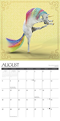 Unicorn Yoga 2019 Wall Calendar 5