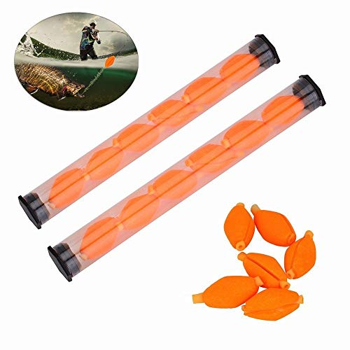 Powerlifter 6Pcs/Set Float Foam Strike Indicators Fly Fishing Buoy Bobbers Fishing Tackle Fly Fishing Accessories (Color : Yellow) (Best Canoe For Fly Fishing)