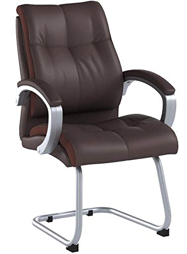 Boss Office Products B8779P-BN Double Plush Guest Chair in Bomber Brown by Boss Office Products (Image #4)