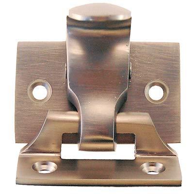 Brushed Nickel Finish Window Spring Loaded Sash Lock & Lift | Antique Reproduction Double Hung Window Hardware for Vintage & Modern Furniture + Free Bonus (Skeleton Key Badge) | WS-79BN (6) by UNIQANTIQ HARDWARE SUPPLY (Image #2)
