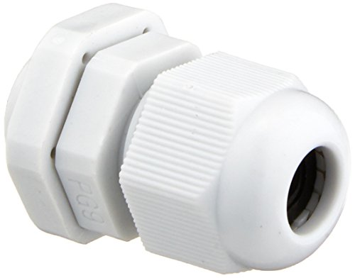10 Pcs PG9 White Plastic Waterproof Cable Glands Joints