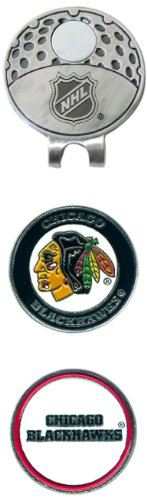NHL Chicago Blackhawks Cap Clip With 2 Golf Ball Markers