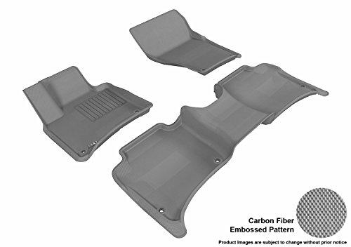 3D MAXpider Complete Set Custom Fit All-Weather Floor Mat for Select Porsche Cayenne Models - Kagu Rubber (Gray)