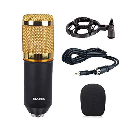 Baoer BM800 Home Microphone KTV Computer Sound Recording Condenser Microphone Black