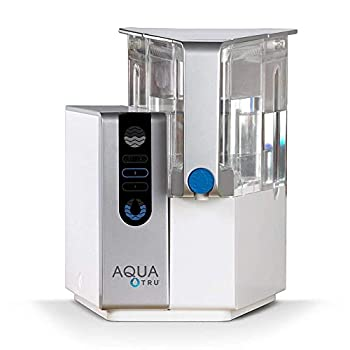 Image of AQUA TRU Countertop Water Filtration Purification System with Exclusive 4 - Stage Ultra Reverse Osmosis Technology (No Plumbing or Installation Required) | BPA Free Home Improvements