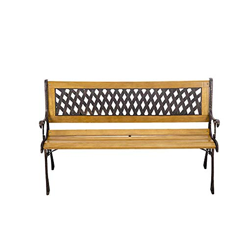 WFL Outdoor Park Chair Cast Iron Art Welding Chair Leisure Chair Square Courtyard Back Multi-Person Long Row Chair Garden Bench - Art Wfl