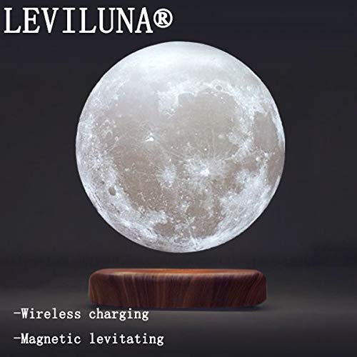 LEVILUNA 7.1'' /16 Colors Magnetic Levitating Moon lamp, 3D Seamless Printed &Touch Control, Magic Night Light, Creative Gifts for him, Best Business for Your Customer (7.1''/16colors) by Zeegine (Image #2)