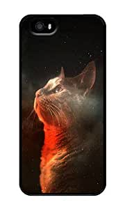 Amazing Space Cat - Personalized Crystal Clear Enamel Hard Back Shell Case Cover Skin for iPhone 5/5S