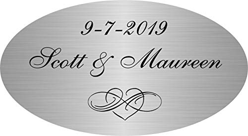 Personalized Custom Engraved, Silver Plated Brass Plate, Brushed Satin Finish Picture Frame Name Label Art Tag, Bronze Sign, Trophy Plaques, Monogrammed Gold Nameplate, Pet Urn Memorial, ENGRAVED FREE
