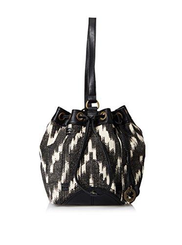 Lucky Brand Womens Bali Hai Sling Fabric Purse (Black/Whi...