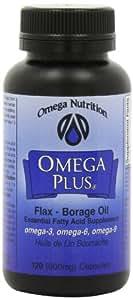 Omega Nutrition Plus Flax-Borage  Oil Capsules,Omega 3.6.9 -  120-count