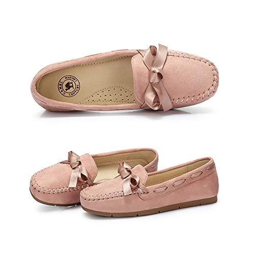 Pink Tacco Da Piselli Donna Piatto Casual Singole Gentle Autunno Stile Maternity Scarpe FBPwq77