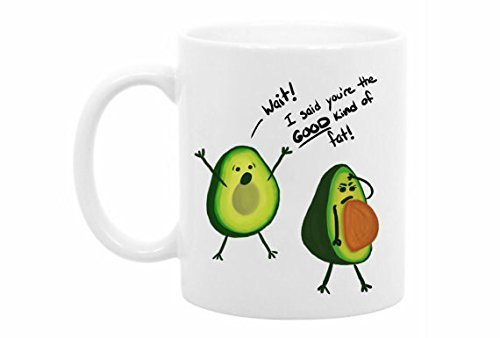 The Coffee Corner - Funny Avocado Mug - 11 Ounce White Ceramic - Perfect valentines day gifts for boyfriend - girlfriend - wife - husband - partner